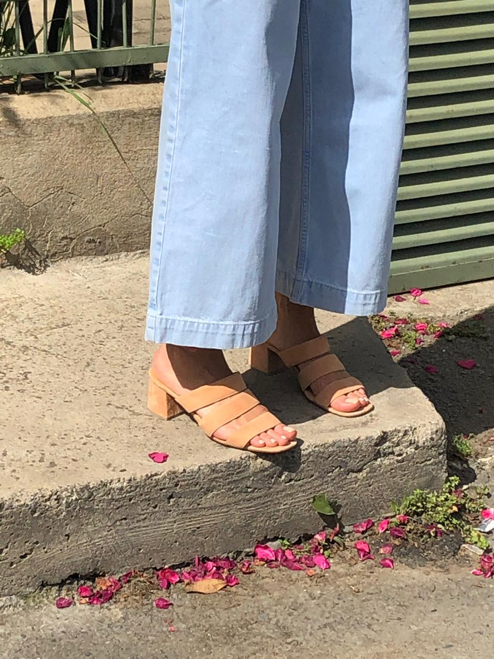 July Sandals | Sunset suede