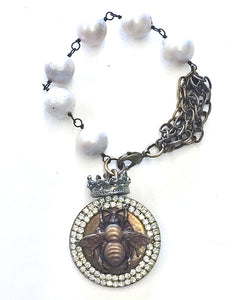 Jeweled Queen Bee Bracelet