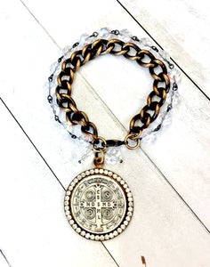 Jeweled St. Benedict Bracelet