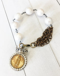 Jeweled Blessed Mother Bracelet
