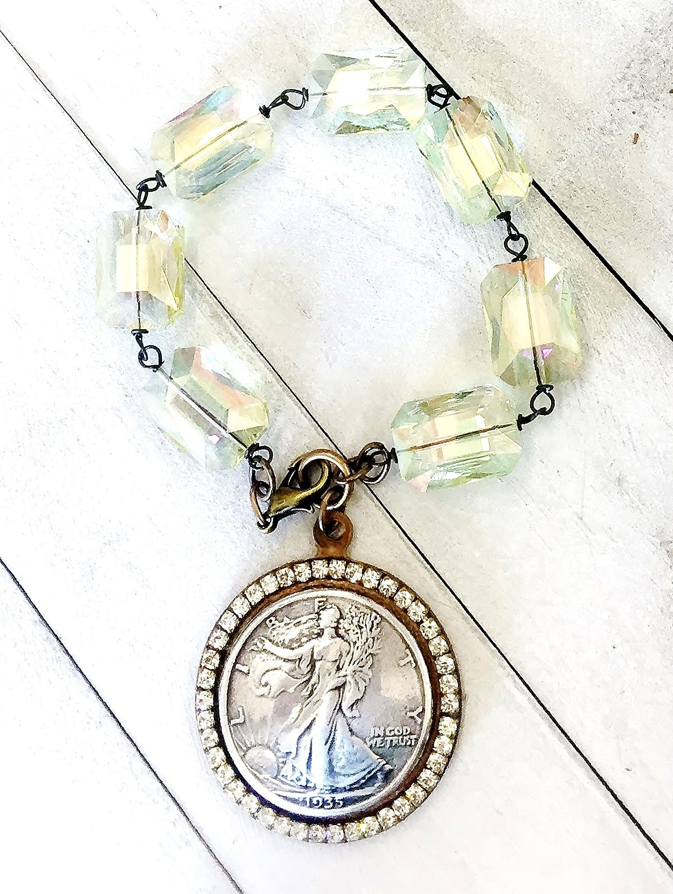 JEWELED LADY LIBERTY BRACELET