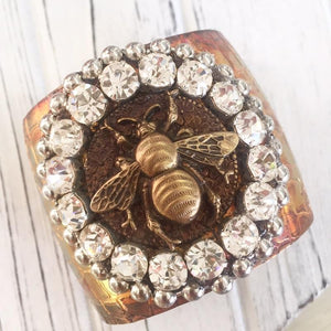 Jeweled Bee Cuff