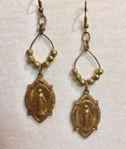 Immaculate Conception Ethiopian Beaded Earrings