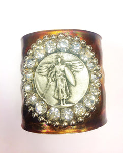 Archangel Michael Jeweled Cuff Bracelet