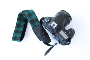 Traditional DSLR Strap - Lumberjack in Olive & Black- ON SALE