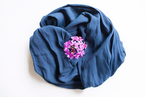 Crushed Crepe DSLR Scarf Strap - Navy Blue