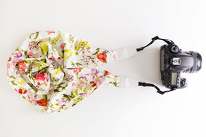 Deluxe Blend DSLR Scarf Strap - Cottage Blooms- ON SALE