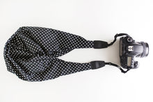 Cotton Classic DSLR Scarf Strap - Polkadot in Black ON SALE!