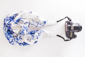 Deluxe Blend DSLR Scarf Strap - Summer in Santorini- SOLD OUT!