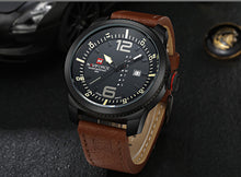 2017 Top Luxury Brand NAVIFORCE Men Military Sports Watches Men's Quartz Date Clock Man Leather Wrist Watch Relogio Masculino - Clucco