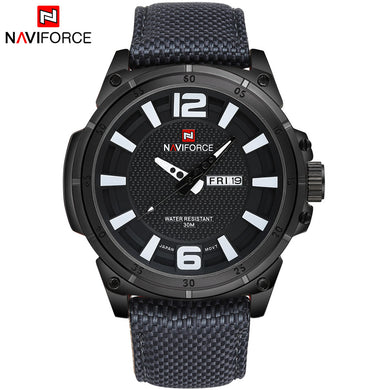 TOP NAVIFORCE Luxury Brand Men's Quartz Date Casual Watch Men Army Military Sports Watches Male Leather Clock Relogio Masculino - Clucco