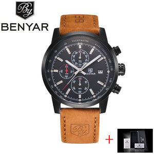 BENYAR Fashion Chronograph Sport Mens Watches Top Brand Luxury Quartz Watch Reloj Hombre 2017 Clock Male hour relogio Masculino - Clucco