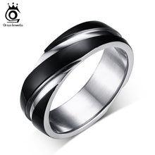 Top Quality Lead & Nickel Free Black Color Stainless Steel Men Party Rings OTR60 - Clucco