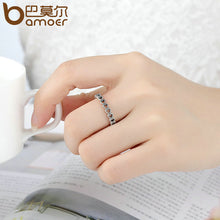 BAMOER Romantic Silver Color Heart to Heart Ring AAA Zirconia Cheap Rings for Women Wedding Jewelry Dropship PA7218 - Clucco