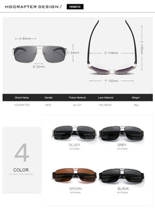 HDCRAFTER Brand Unisex Retro Aluminum Sunglasses Polarized Lens Vintage Eyewear Accessories Driving Sun Glasses For Men/Women - Clucco