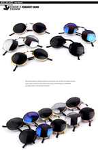 MERRY'S VINTAGE STEAMPUNK Sunglasses round Designer steam punk Metal Women Coating Sunglasses Retro CIRCLE SUN GLASSES - Clucco