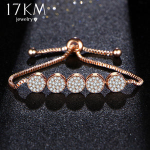17KM New Fashion Adjustable Bracelets For Women Pulseras Mujer Wedding Crystal Bracelet Charm Femme Party Jewelry Friend Gift - Clucco