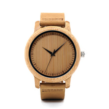 BOBO BIRD WA09 Ladies Casual Quartz Watches for Men Natural Bamboo Watch face Women's Brand Lovers Watches in Box Dropshipping - Clucco
