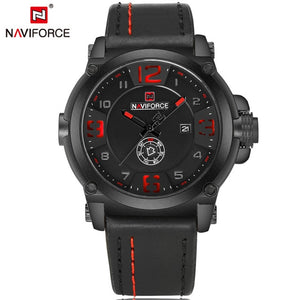 2017 New Fashion Mens Watches Naviforce Militray Sport Quartz Men Watch Leather Waterproof Male Wristwatches Relogio Masculino - Clucco