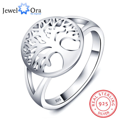 Tree of Life Classic Accessories 925 Sterling Silver Rings For Women New Mothers Day Gifts  (JewelOra RI102308) - Clucco
