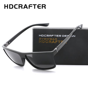 HDCRAFTER 2017 Sunglasses men Polarized Square sunglasses Brand Design UV400 protection Shades Men glasses for driving - Clucco