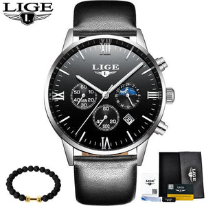 2017 LIGE Luxury Fashion Brand Watch Men's Fashion Sport Military Quartz Watch Men's Business Waterproof Clock Relogio Masculino - Clucco