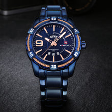 NAVIFORCE Fashion Casual Brand Waterproof Quartz Watch Men Military Stainless Steel Sports Watches Man Clock Relogio Masculino - Clucco