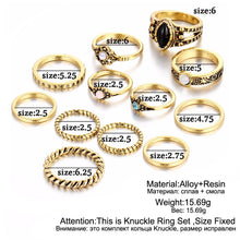 17KM Design Vintage Punk Midi Rings Set Antique Gold Color Boho Female Charms Jewelry Knuckle Ring For Women Fashion Party Gift - Clucco