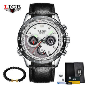 LIGE Fashion Chronograph Sport Mens Watches Top Brand Luxury Quartz Watch Reloj Hombre 2017 Clock Male Hour Relogio Masculino