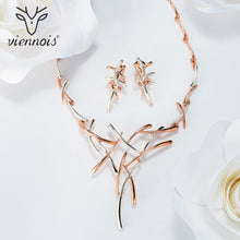 Hot Viennois Silver/Gold/Gun Color Metallic Earrings Statement Cross Jewelry Set for Women Punk Style Female Party Jewelry Sets - Clucco