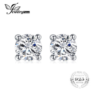 JewelryPalace Round 1ct Pure 925 Sterling Silver Stud Earrings For Women Gift Fashion Jewelry Simulated Diamond Anniversary - Clucco