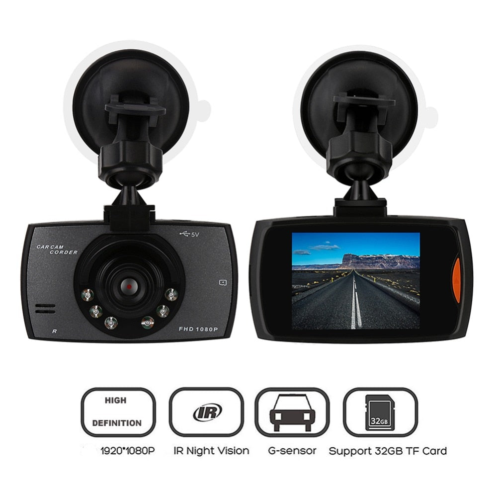 1080P Digital Car DVR Camera Dashcam Video Recorder 2.4inch Night Vision Dash Cam Vehicle Dash Cam Car Styling Accessaries - Clucco
