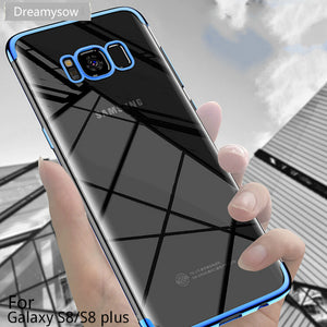 Plating Soft TPU Cases For Samsung Galaxy S8 S9 Plus S6 S7 Edge A7 2018 A5 A3 2016 Note 8 J3 J5 J7 2017 Ultra thin Cover Case - Clucco