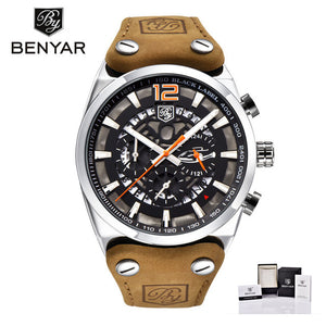 BENYAR Mens Watches Top Luxury Chronograph Sport Mens Watches Fashion Brand Waterproof Military Watch Relogio Masculino BY-5112M - Clucco