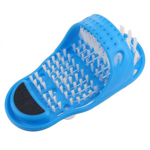 Plastic Bath Shower Feet Massage Slippers Bath Shoes Brush Pumice Stone Foot Scrubber Spa Shower Remove Dead Skin Foot Care Tool - Clucco