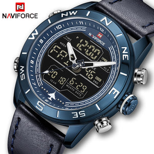 2018 Mens Watches Top Brand NAVIFORCE Men Fashion Sport Watch Male Waterproof Quartz Digital Led Clock Mens Military Wristwatch - Clucco