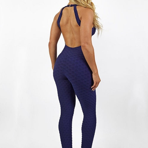 Fitness Leggings South Africa: Sports Jumpsuits Backless Sportswear