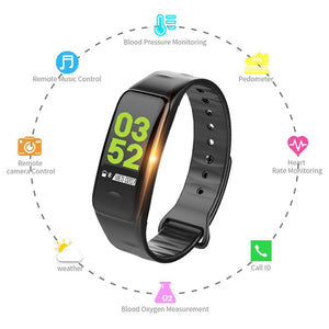 Smart Bracelet Blood Pressure Measurement Calorie Counter Wrist Watch Pulsometer Monitor Cardiaco Waterproof Fitness Smart Ban