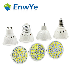 EnwYe E27 E14 MR16 GU10 Lampada LED Bulb 220V 240V Bombillas LED Lamp Spotlight 48 60 80 LED 2835 SMD Lampara Spot cfl - Clucco