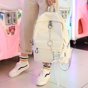 Fashion big capacity shopping bag laptop backpack rucksack canvas bags student mochila womens school Bags - Clucco