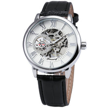 2018 FORSINING 3D Logo Black Gold Men Mechanical Watch Montre Homme Man Watches Top Brand Luxury Leather WINNER Skeleton Design - Clucco