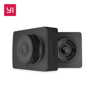 YI Compact Dash Camera 1080p Full HD Car Dashboard Camera with 2.7 inch LCD Screen 130 WDR Lens G-Sensor Night Vision Black - Clucco