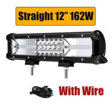"Partol 5"" 12"" 20"" 22"" 34"" 42"" 50"" Tri-Row LED Light Bar Combo Beam 6000K LED Bar 4X4 4WD Offroad Driving Work Light Truck Camper - Clucco"