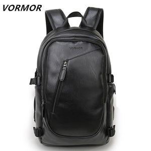 2018 VORMOR Brand waterproof 15.6 inch laptop backpack men leather backpacks for teenager Men Casual Daypacks mochila male - Clucco