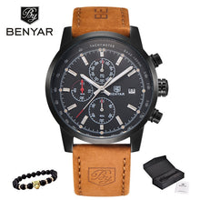 BENYAR Fashion Men Watch Sport Men Watches Top Brand Luxury Military Quartz Watch Chronograph Waterproof Clock Relogio Masculino - Clucco