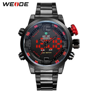 WEIDE Hot Sale Outdoor Men Sports Watch Military Army Quartz Analog Digital LED Wristwatch For Men Relogio Masculino Gift - Clucco