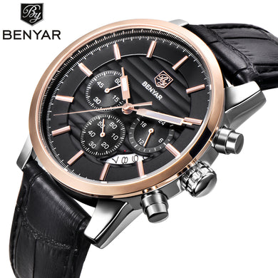 Reloj Hombre BENYAR Fashion Chronograph Sport Mens Watches Top Brand Luxury Business Quartz Watch Clock Relogio Masculino - Clucco