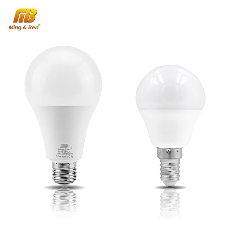 LED E14 LED lamp E27 LED bulb AC220V 230V 240V 18W 15W 12W 9W 7W 5W 3W Smart IC Lampada LED Spotlight Table Lamps light Bombilla
