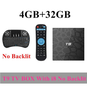 2018 T9 TV Box Android 8.1 8 1 4GB 32GB 64GB Smart TV prefix Rockchip RK3328 1080P H.265 4K Google Play Netflix media player - Clucco