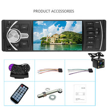 Hikity Car Radio 1 din 4022d FM radio car Auto Audio Stereo Bluetooth Autoradio Support Rear view Camera Steering Wheel Contral